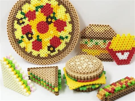 hama food food perler by perlerbeads jp perler bead patterns