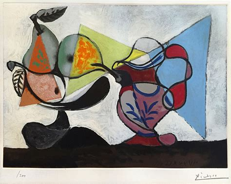 pablo picasso nature paintings pablo picasso still nature morte 1960 color aquatint