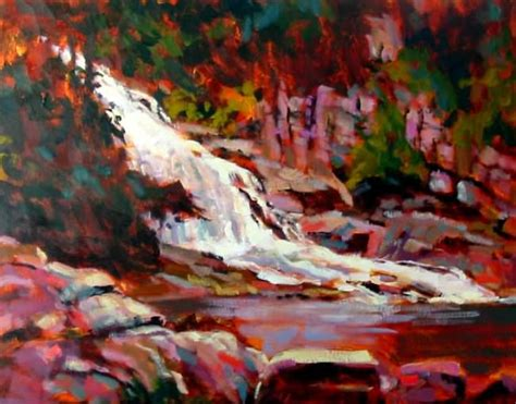 acrylic painting lesson waterfall acrylic painting lesson