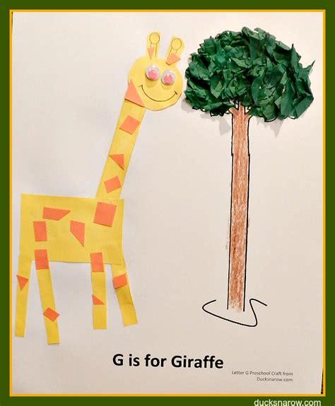 giraffe craft for g is for giraffe preschool lesson craft ducks n a row