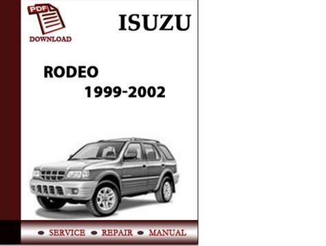 car repair manuals online free 2002 isuzu rodeo sport spare parts catalogs isuzu rodeo 1999 2000 2001 2002 rodeo sport 2001 2002 workshop serv