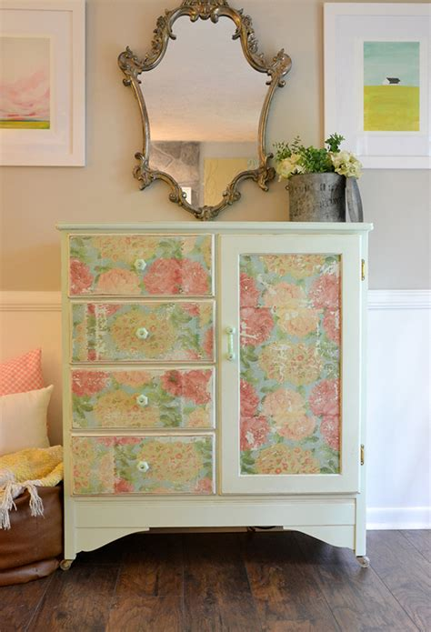 Decoupage Using Napkins On Wood Furniture Hearts Sharts