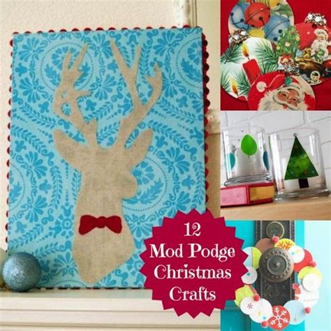 modge podge crafts for 12 diy projects using mod podge