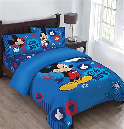 mickey mouse bed set disney mickey mouse oh boy bedding comforter set ebay