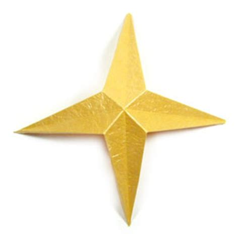 four pointed origami how to make a four pointed easy embossed origami paper