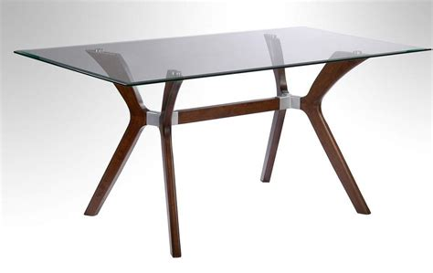 dining table tempered glass walnut dining table with tempered rectangular glass