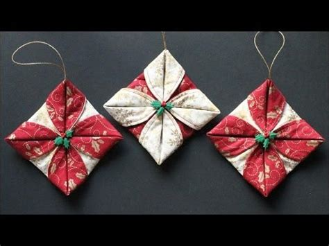 fabric decorations folded fabric ornaments