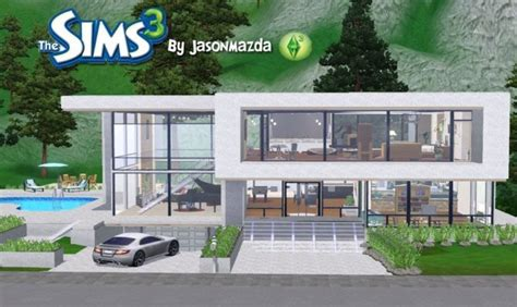 sim house plans sims 3 modern house design inspiration house plans 3434