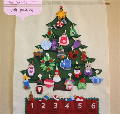 advent calendar with ornaments tree advent calendar pattern 29 ornaments
