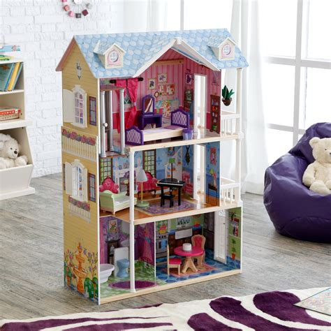 kid craft furniture kidkraft majestic mansion wooden dollhouse with 33 pieces