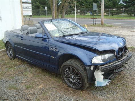 Bmw M3 Convertible For Sale by 2002 Bmw M3 Convertible Salvage Rebuildable For Sale