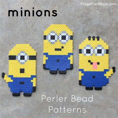 minion perler bead patterns minions perler bead patterns frugal for boys and