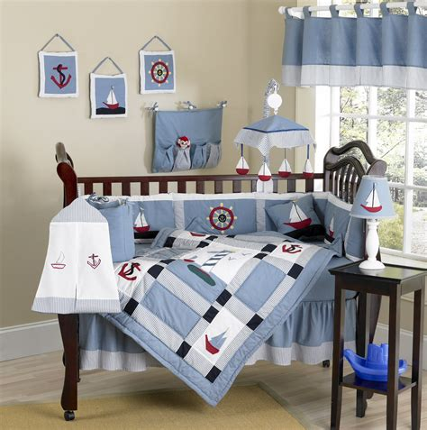 baby boy nautical crib bedding nautical themed blue baby crib bedding 9pc boy nursery