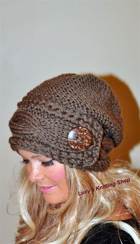 how to knit a slouchy hat slouchy hat slouchy beanie cable button hat knit