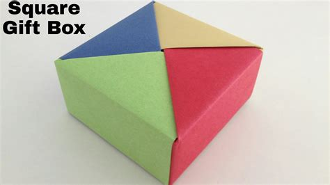 origami square box with lid origami diy square origami box gathering origami