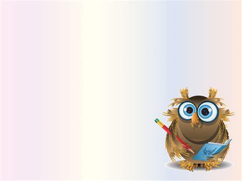 sweet owl teacher ppt ppt backgrounds animals