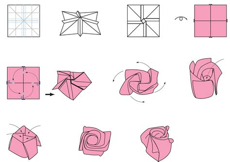 steps to make origami flower origami origami printable ot origami