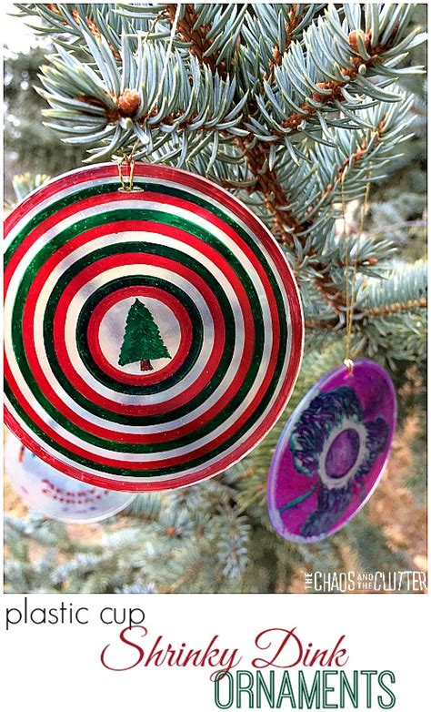shrinky dink ornaments plastic cup shrinky dink ornaments