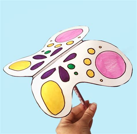 butterfly construction paper craft crafts butterfly wings