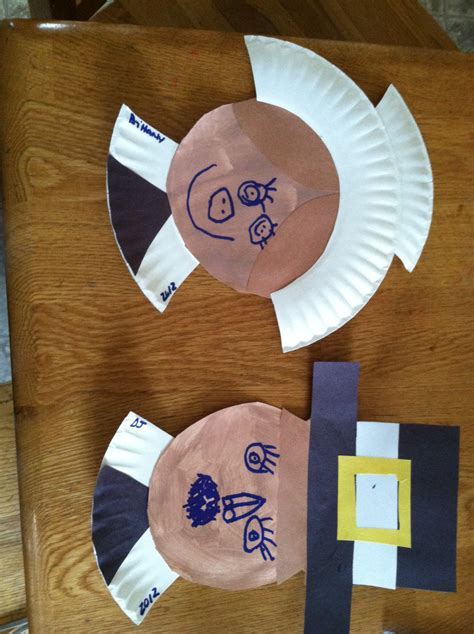 pilgrim paper plate craft pilgrim and indians crafts for preschool