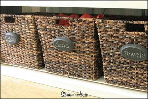 diy chalkboard labels for baskets diy basket labels laundry