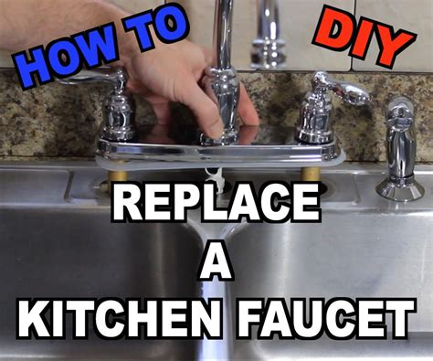 how do you replace a kitchen faucet how to replace a kitchen sink faucet 6