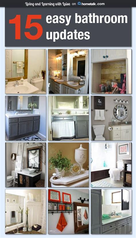 bathroom update ideas 25 best ideas about easy bathroom updates on