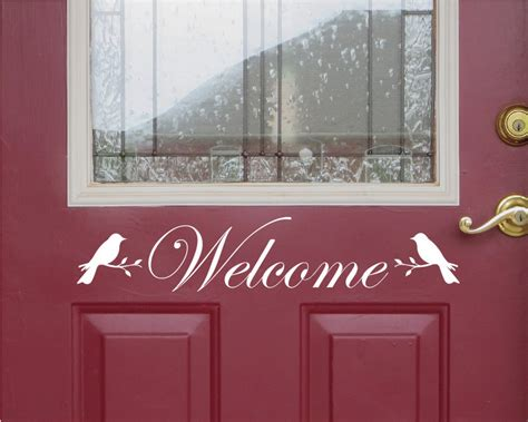 front door welcome signs front door welcome sign front door decor welcome sign bird