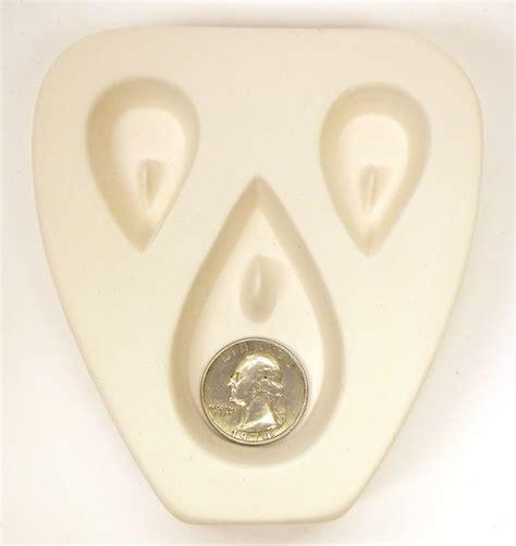 Teardrop Trio Earring Pendant Jewelry Mold