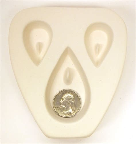 molds for jewelry teardrop trio earring pendant jewelry mold