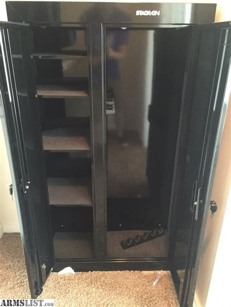 stack on 10 gun door cabinet armslist for sale trade stack on gcdb 924 10 gun