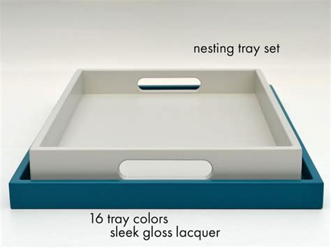 lacquer trays for ottomans nesting coffee table trays gloss lacquer ottoman tray