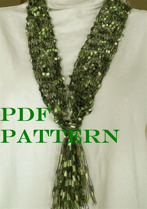 ladder yarn knitting patterns pattern for knit necklace scarf of ladder ribbon yarn with