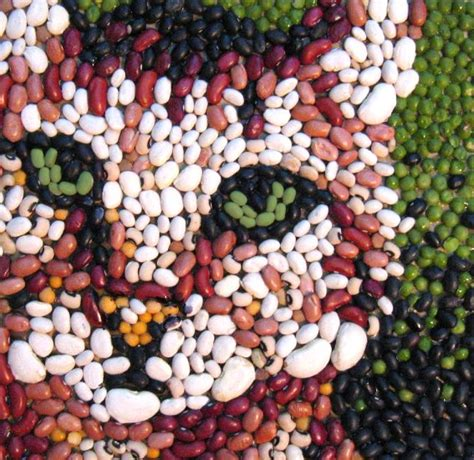 how seed are made bean mosaic cat by yarnuh on deviantart