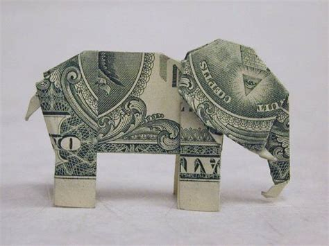origami elephant dollar file origami made from an american 1 dollar bill of an