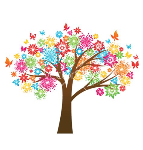 colorful tree colorful tree clipart