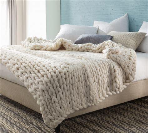 chunky knit bedspread australian woolen blanket chunky knit oversized