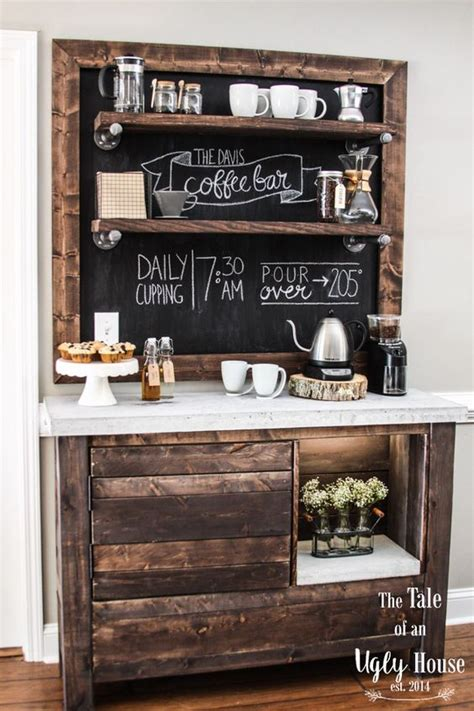 Black Dining Room Table 49 exceptional diy coffee bar ideas for your cozy home