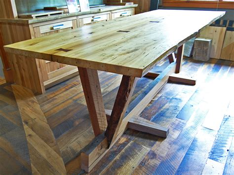 woodworking conference reclaimed wood dining table timber frame study