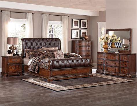 homelegance bedroom furniture homelegance brompton upholstered bedroom set cherry