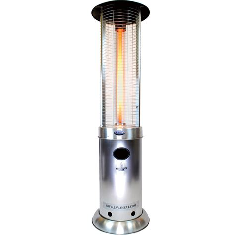 propane patio heater lowes shop 51 000 btu stainless steel liquid propane patio