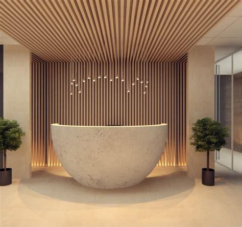 reception desk design wood reception design interior design ideas