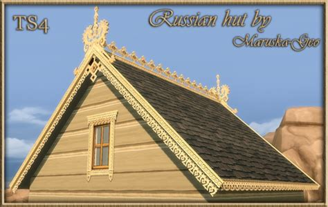 roof decorations russian hut outdoor decor at maruska geo 187 sims 4 updates