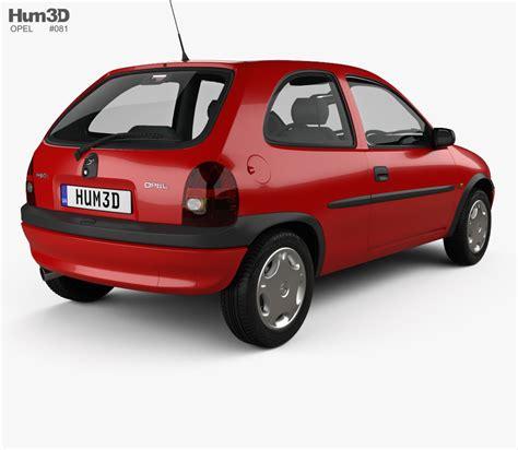 Opel Corsa B by Opel Corsa B 3 Door Hatchback 1998 3d Model Hum3d