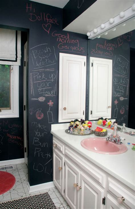 chalk paint bathroom ideas how to creatively use chalkboard paint around the house