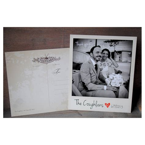 card with photos wedding instant photo thank you cards with envelopes by
