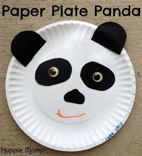 panda paper plate craft crafts paper and animals on