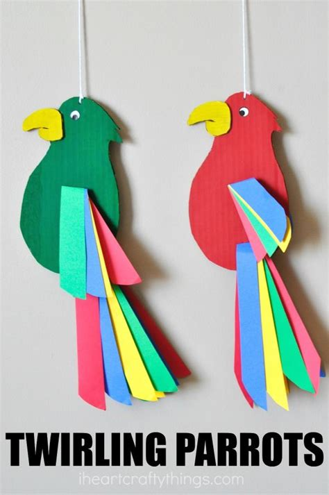 easy arts and crafts for best 20 parrot craft ideas on daycare crafts