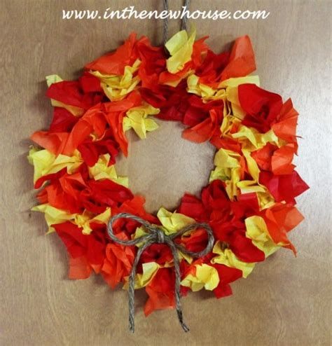 fall paper craft ideas fall wreath paper craft for ye craft ideas
