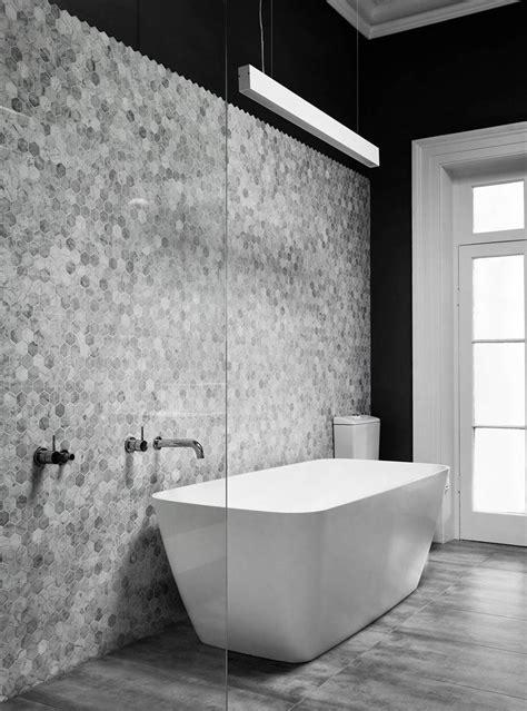 grey bathroom tile ideas bathroom tile ideas grey hexagon tiles contemporist